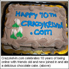 CrazyKelvin.com's 10th Anniversary